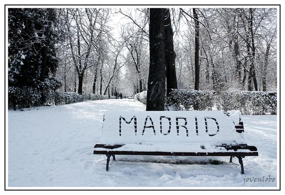 NIEVE-RETIRO-MADRID