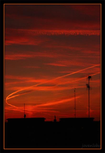 Cielo-Naranja-Madrid-Amanecer