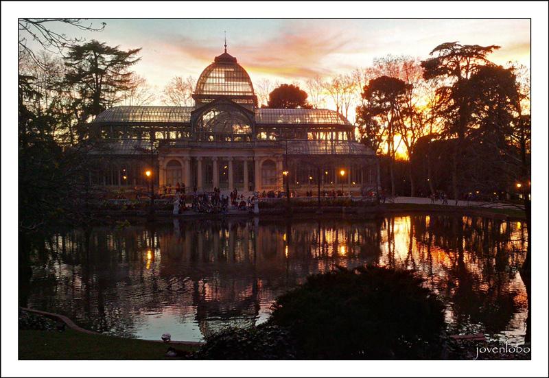 Atardecer-Palacio-de-Cristal-Retiro-MADRID